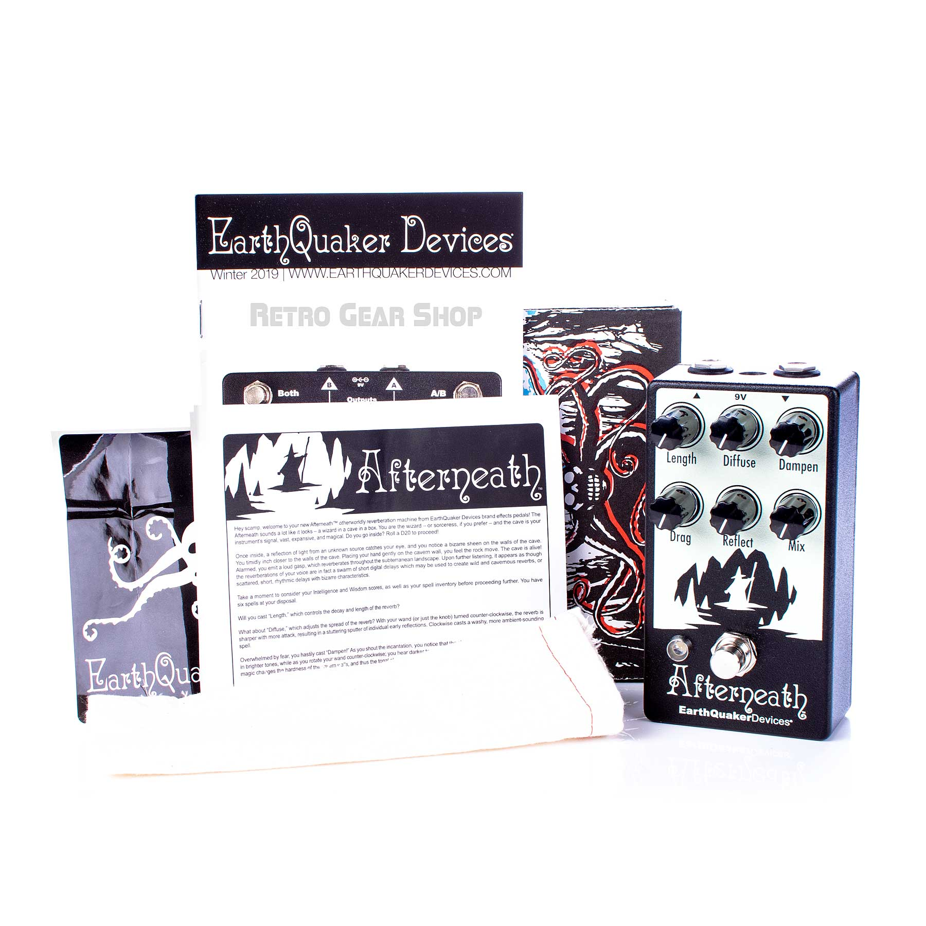 EarthQuaker Devices Afterneath Box Manual Extras