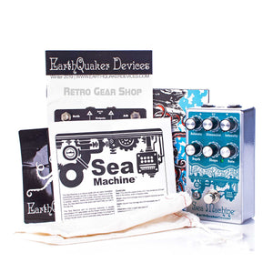 Earthquaker Devices Sea Machine V3  Box Manual Extras