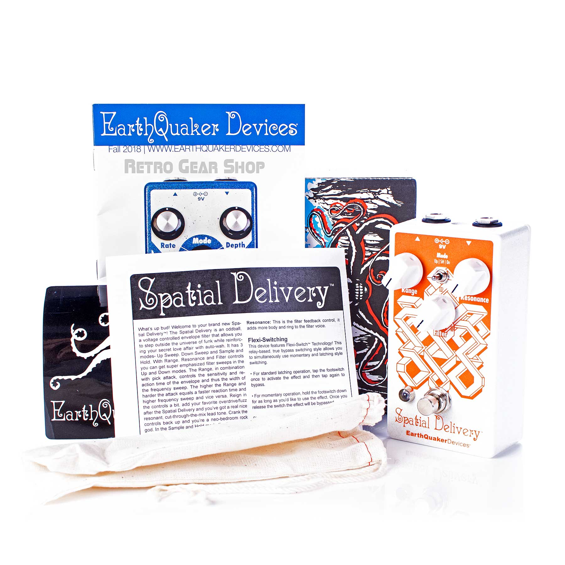 Earthquaker Devices Spatial Delivery V2 Box Manual Extras