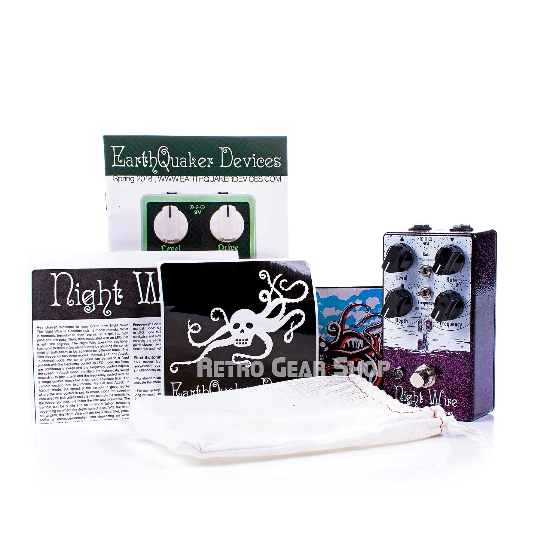 EarthQuaker Devices Night Wire V2 Manual Extras
