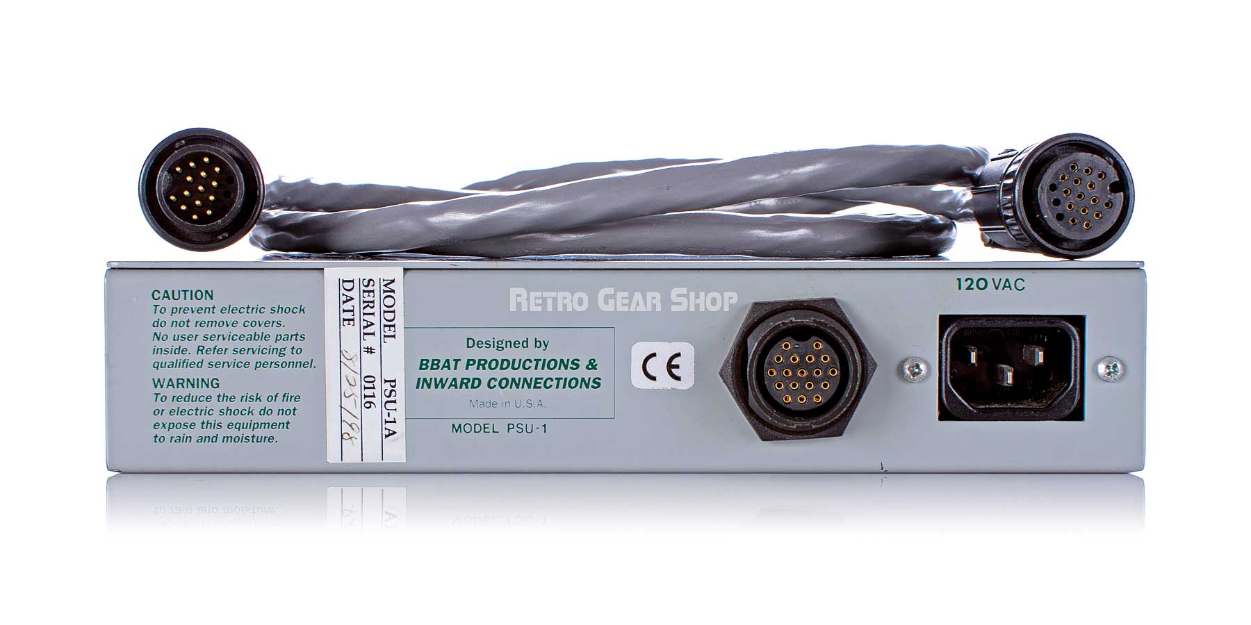 Inward Connections VacRac 4000 Power Supply Rear