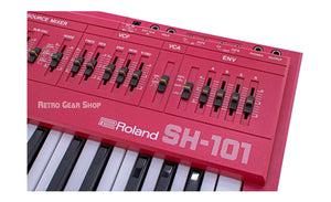 Roland SH-101 Red Serviced Monophonic Analog Synthesizer Rare Vintage Acid Techno Electronica