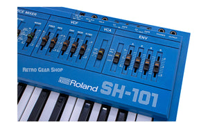 Roland SH-101 Blue + MG-1 Rare Vintage Analog Synth Keyboard Serviced