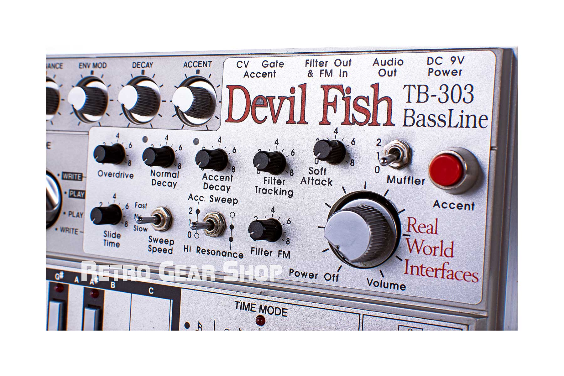 Roland TB-303 Bass Line Devilfish Upgrade Knobs