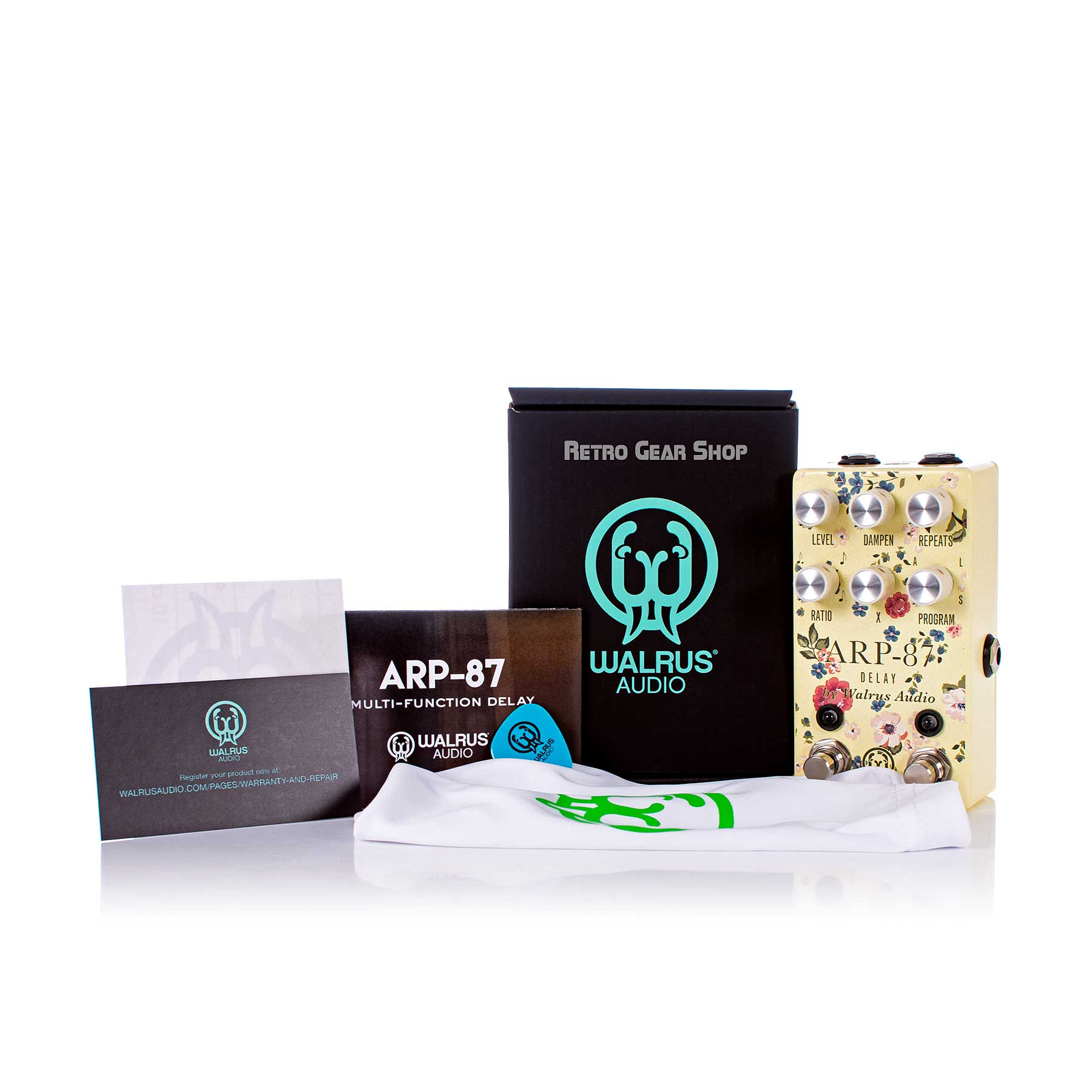 Walrus Audio ARP-87 Limited Edition Floral Series Box Manual Extras