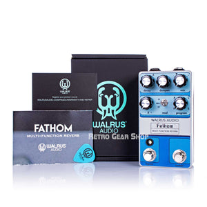 Walrus Audio Fathom Reverb Custom Retro Limited Edition Box Manuals