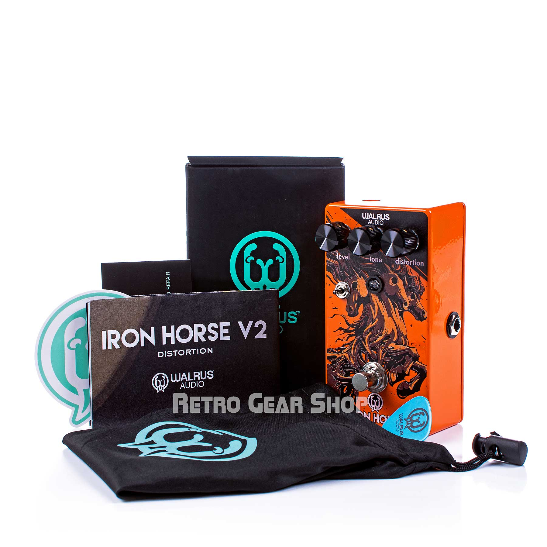 Walrus Audio Iron Horse V2 Halloween Limited Edition Box Extras