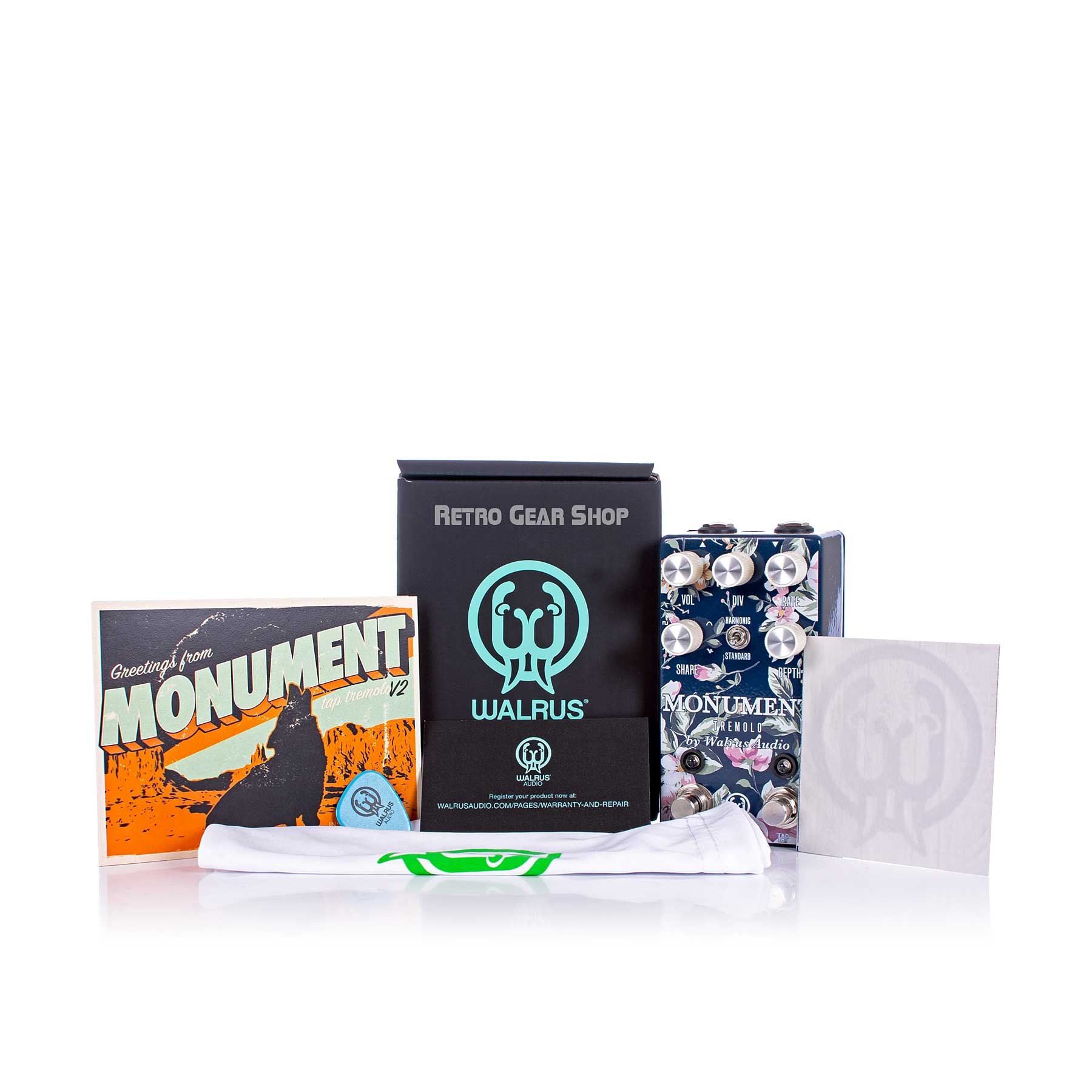 Walrus Audio Monument V2 Limited Edition Floral Series Box Manual Extras