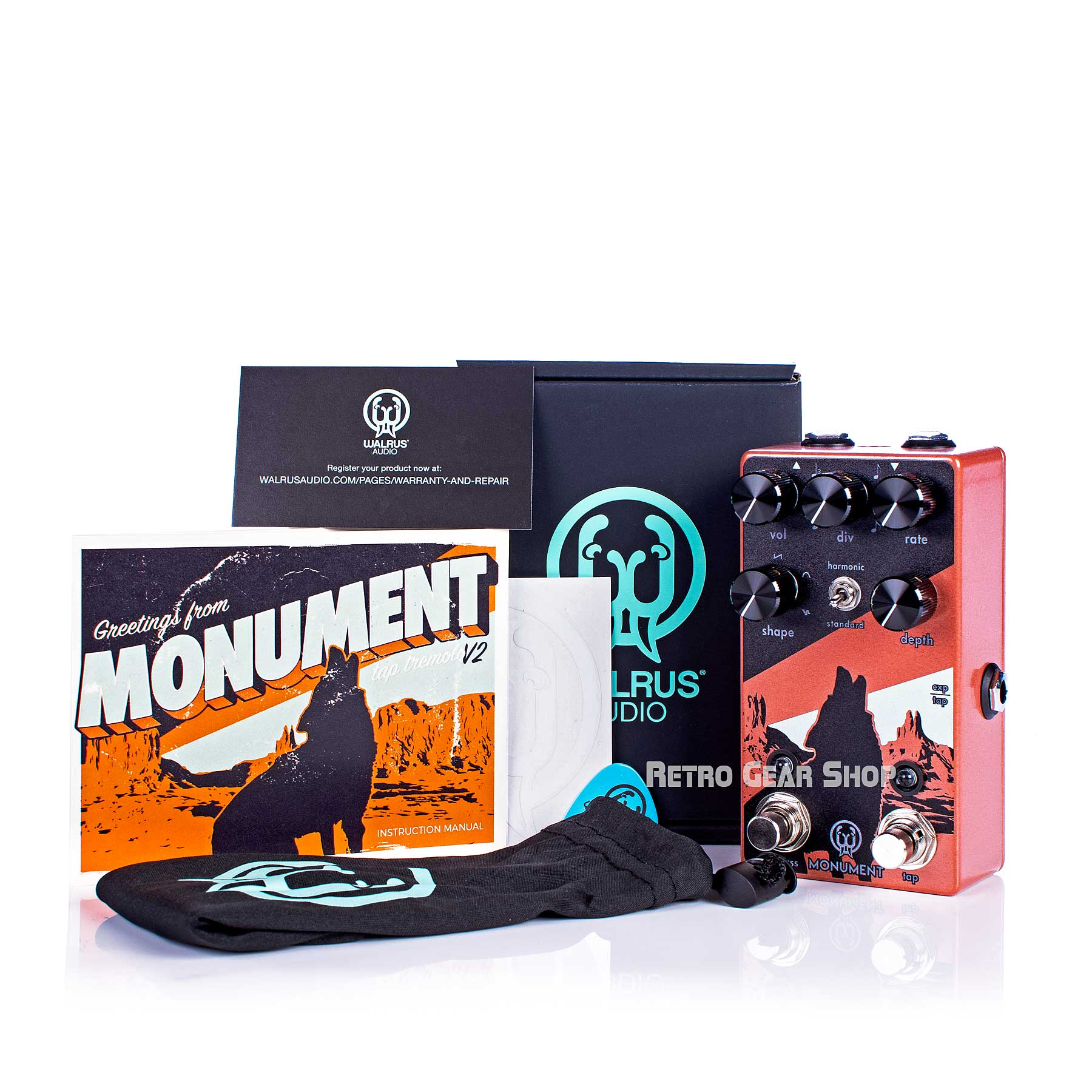Walrus Audio Monument V2  Box Manual Extras