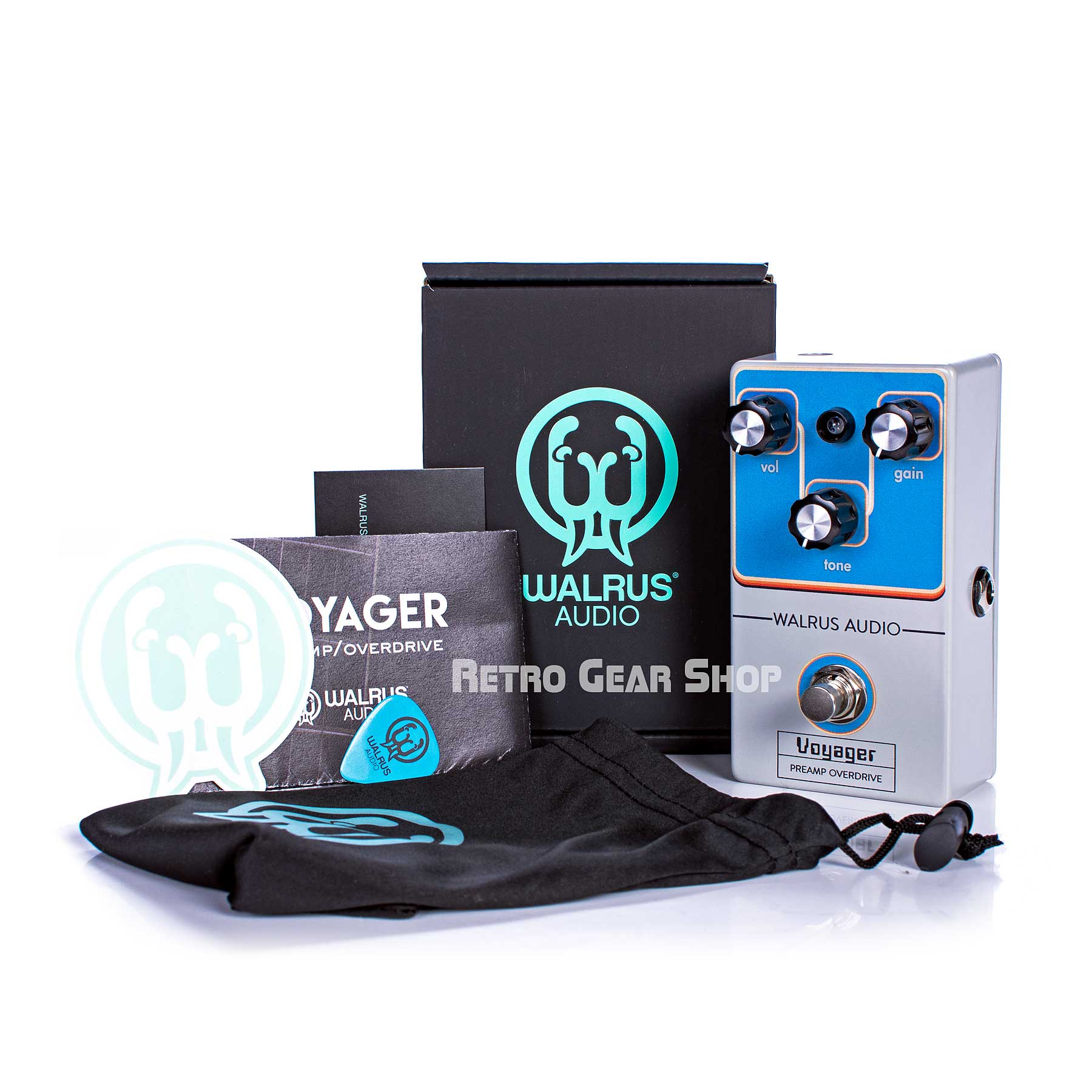 Walrus Audio Voyager Preamp Overdrive Black Friday Custom Retro Limited Edition Box Manual Extras