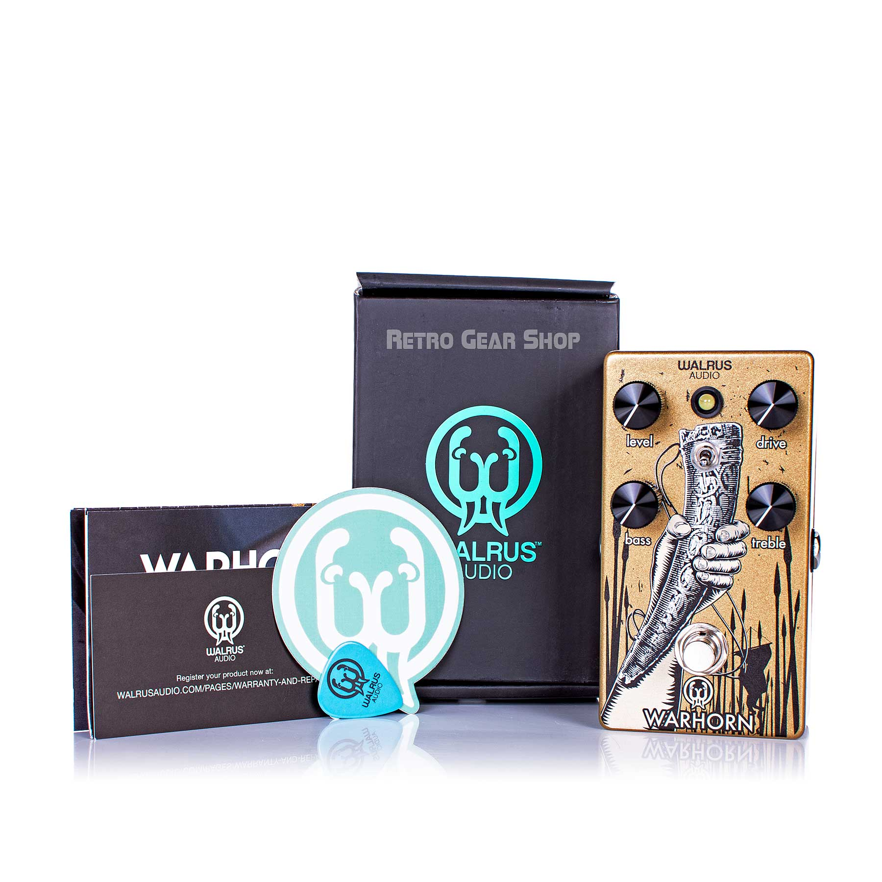 Walrus Audio Warhorn Box Manual Extras