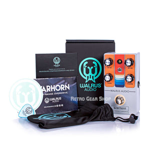 Walrus Audio Warhorn Mid-Range Overdrive Black Friday Custom Retro Limited Edition Box Manual Extras