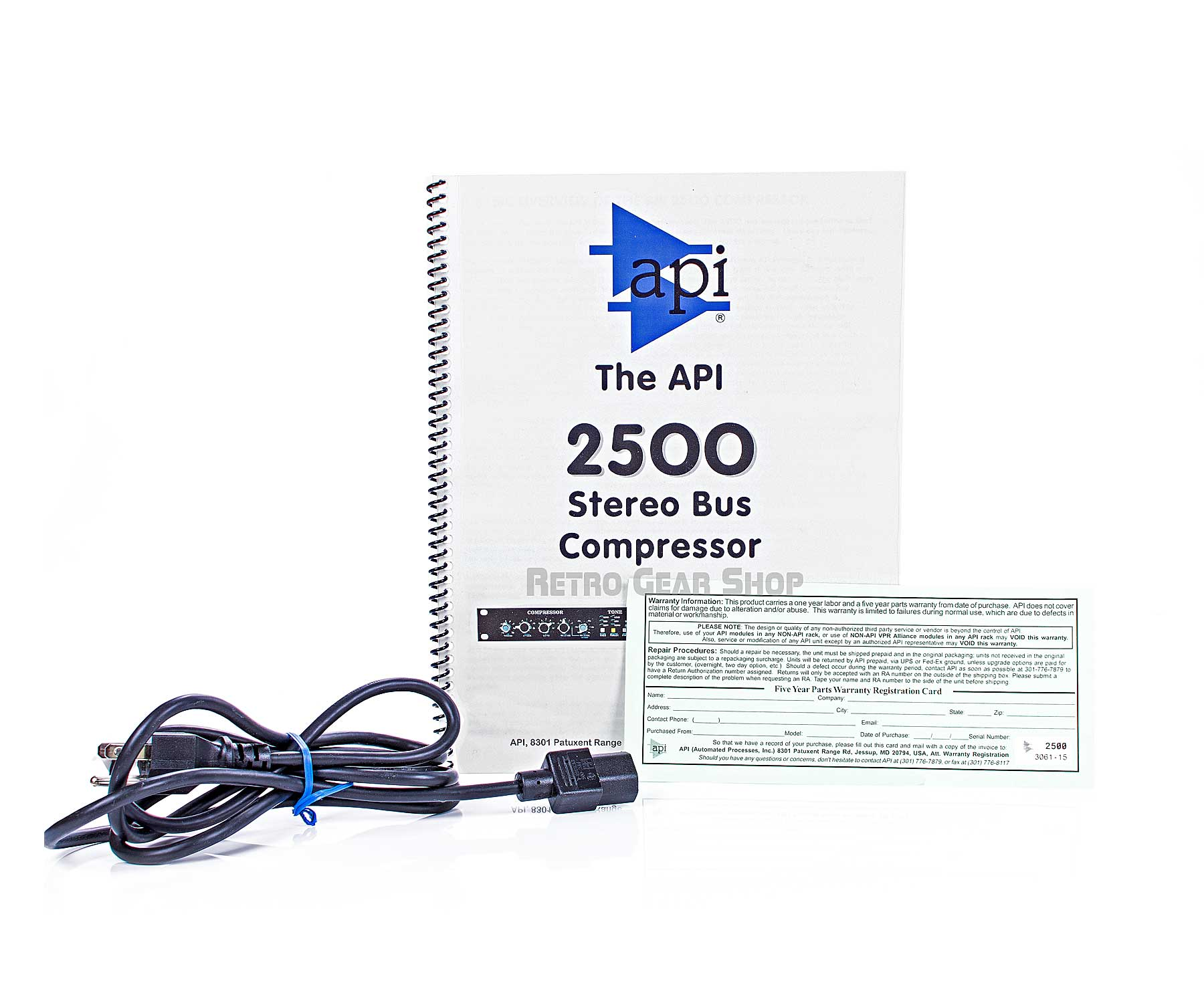 API 2500 Manual Power Cable