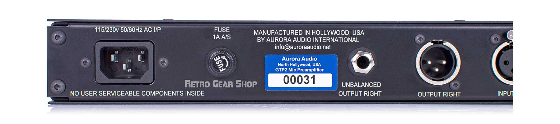 Aurora Audio GTP-2 Rear Left Detail