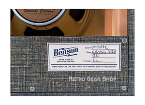 Benson Amps Monarch 1x12 Cabinet Night Moves Silver Grill Serial Badge Specs