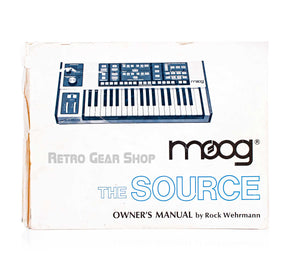 Moog Source Original Owner's Manual