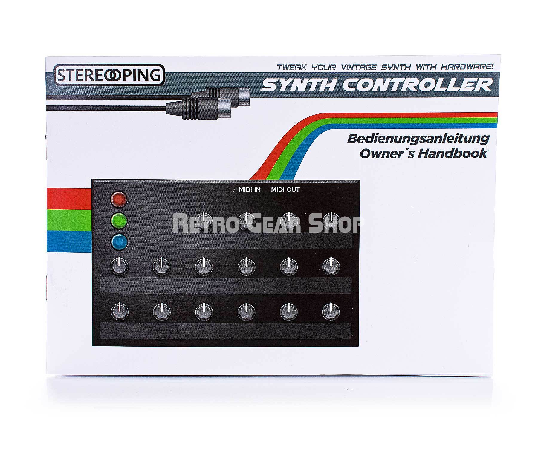 Stereoping CE-1 Midi Synthesizer Controller Böhm Dynamic 4x9 Manual