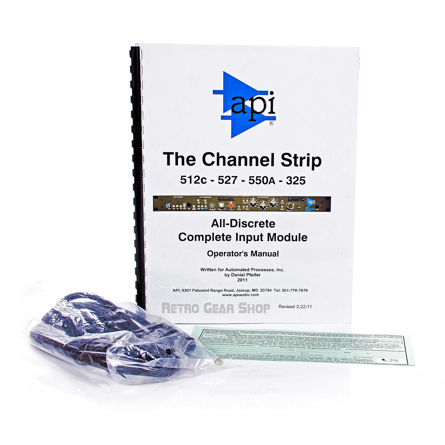 API The Channel Strip Manual Power Cable