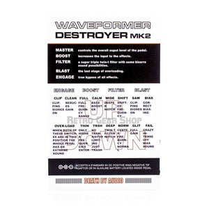 Death By Audio Waveformer Destroyer Mk2 Manual Settings