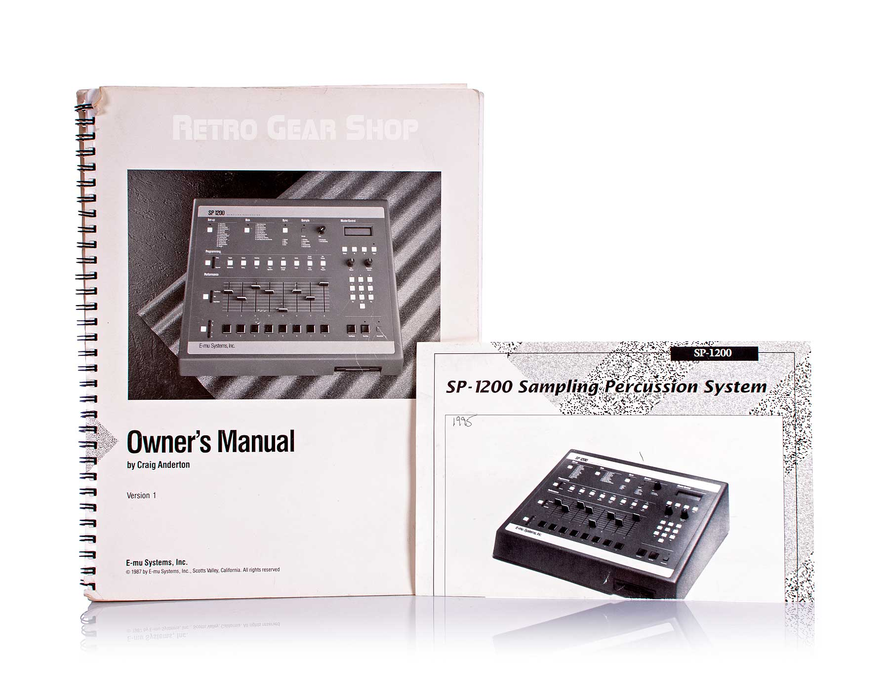 Emu SP1200 Minty + Box Vintage Sampling Drum Machine Reissue Manuals
