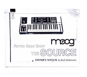 Moog Source Owner's Manual