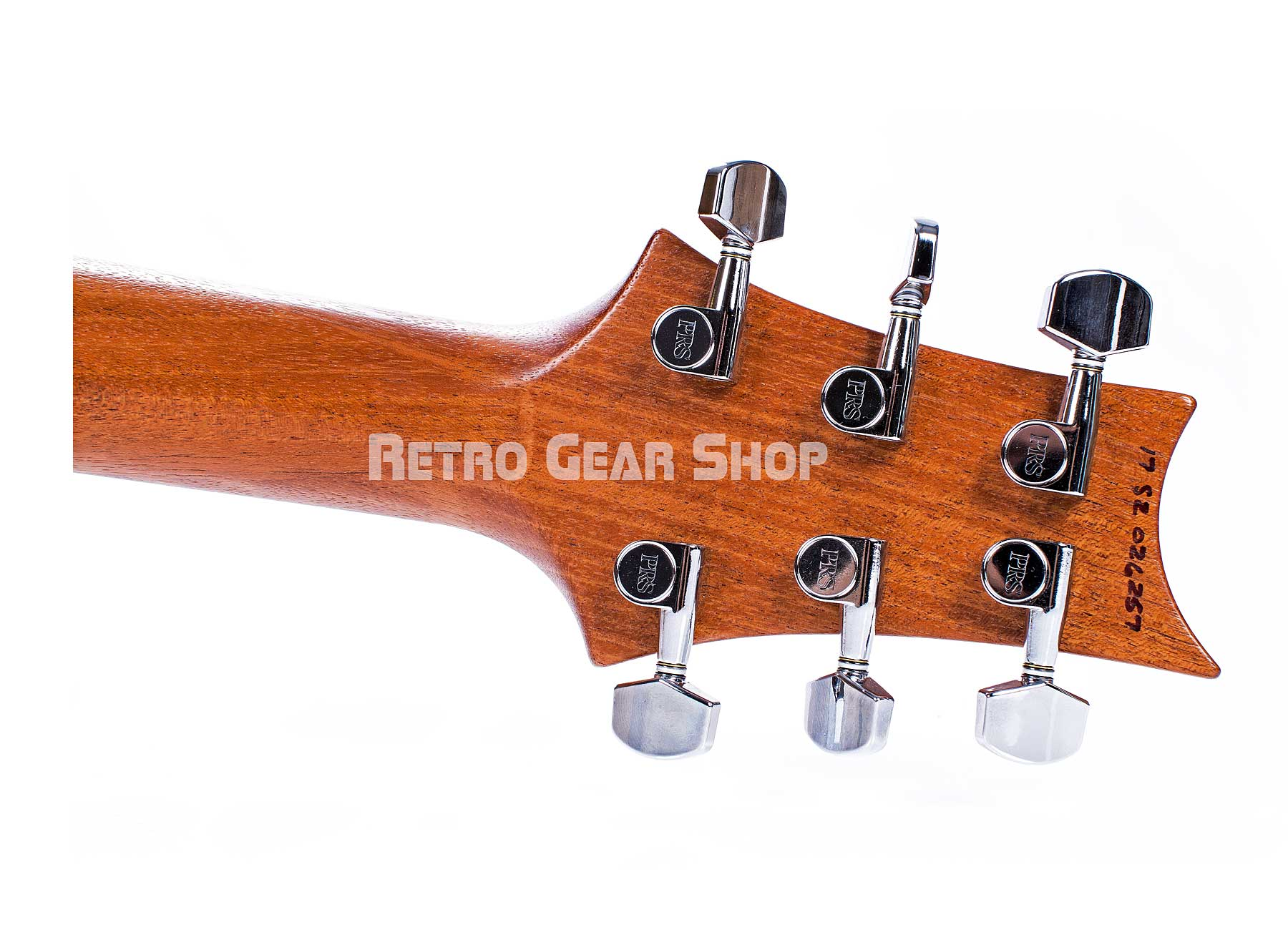 PRS S2 Vela Reclaimed Wood Limited Edition Headstock Rear