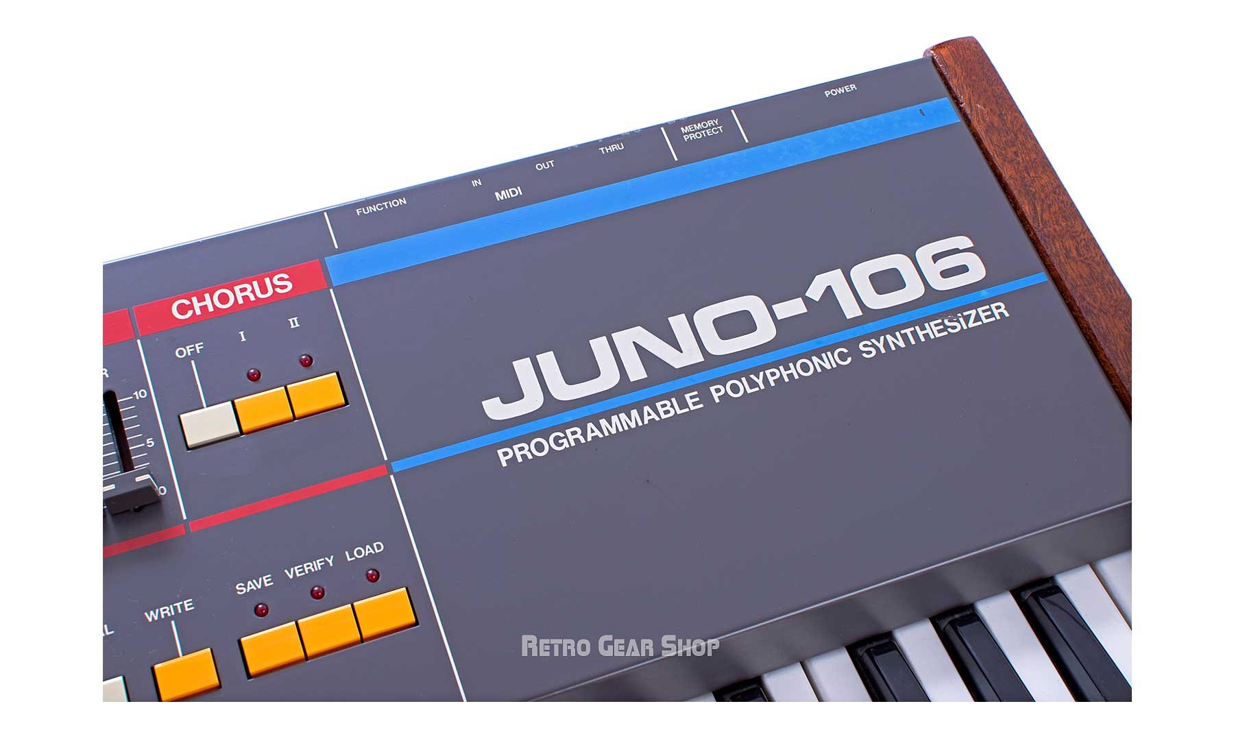 Roland Juno-106 Custom Wood Endcheeks Rare Vintage Analog Synth