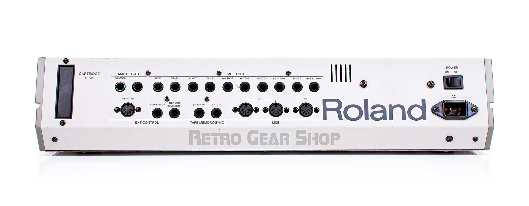 Roland TR-909 Rear Connections Outputs Midi