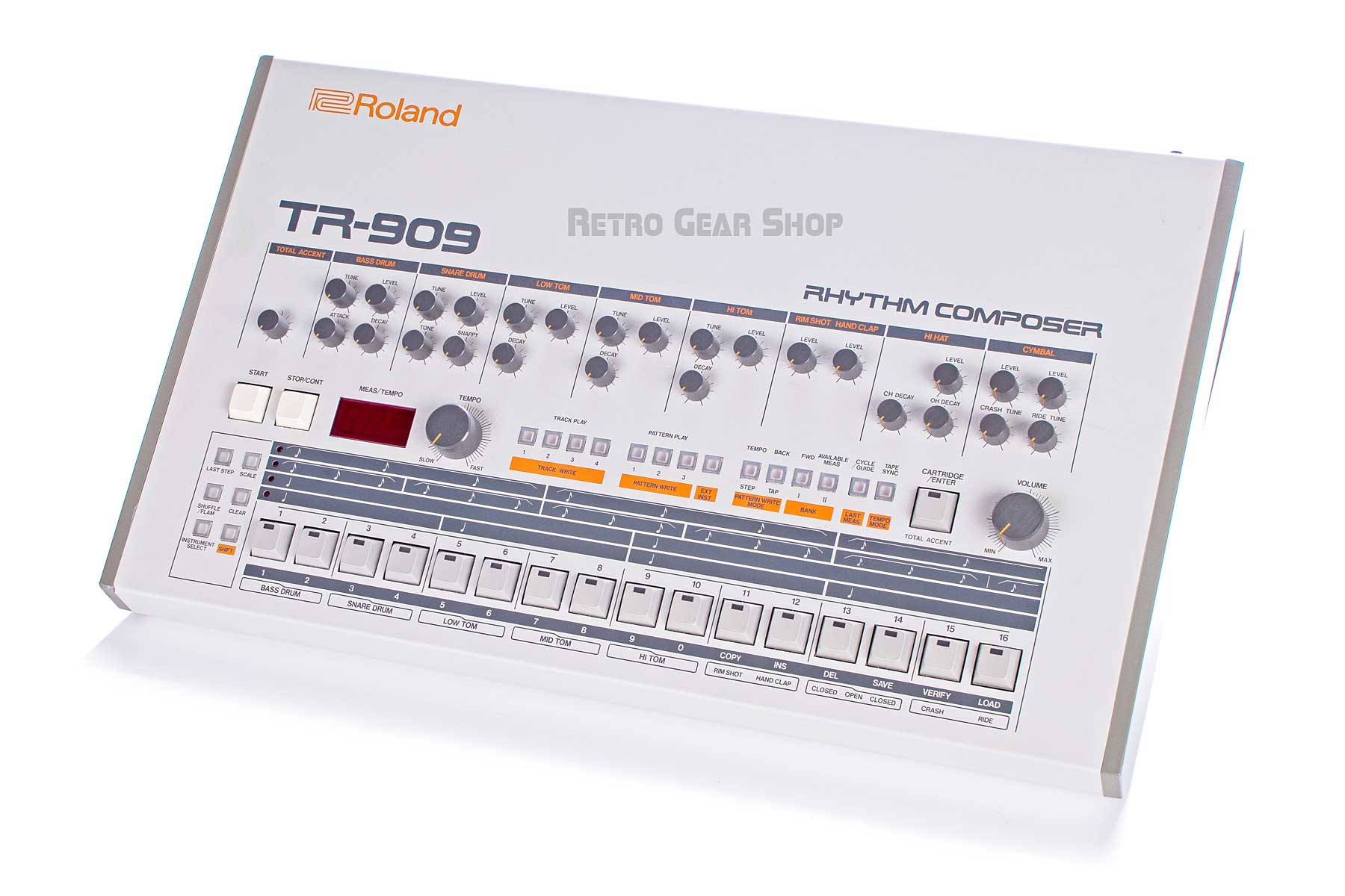 Roland TR-909 Rare Vintage Analog Drum Machine Rhythm Composer TR909 Mint