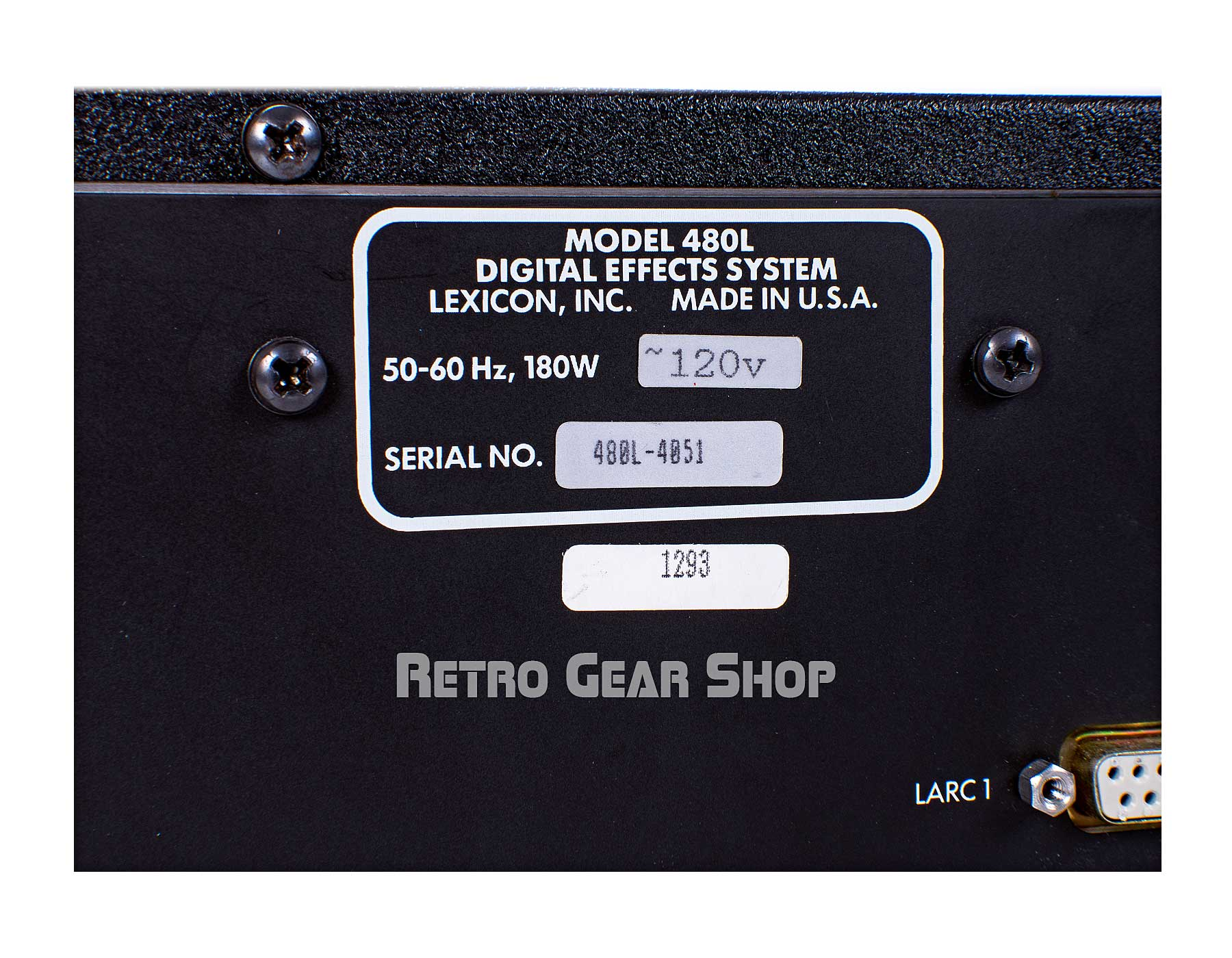 Lexicon 480L Serial Number
