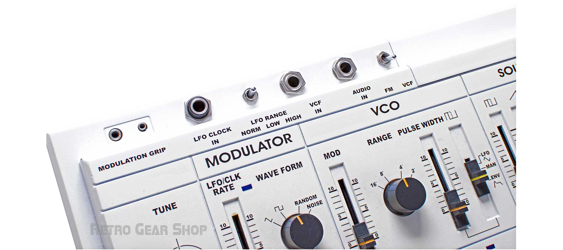 Roland SH-101 Custom White + Mods LFO FM Audio In