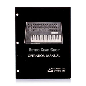 Sequential Circuits Pro One Original Manual