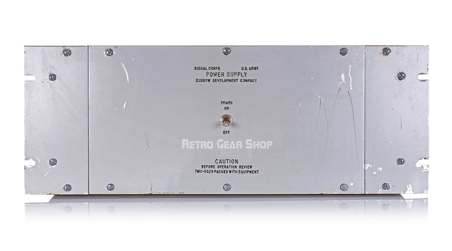 Signal Corps AF Amplifier AM-186A/FR Bottom Front