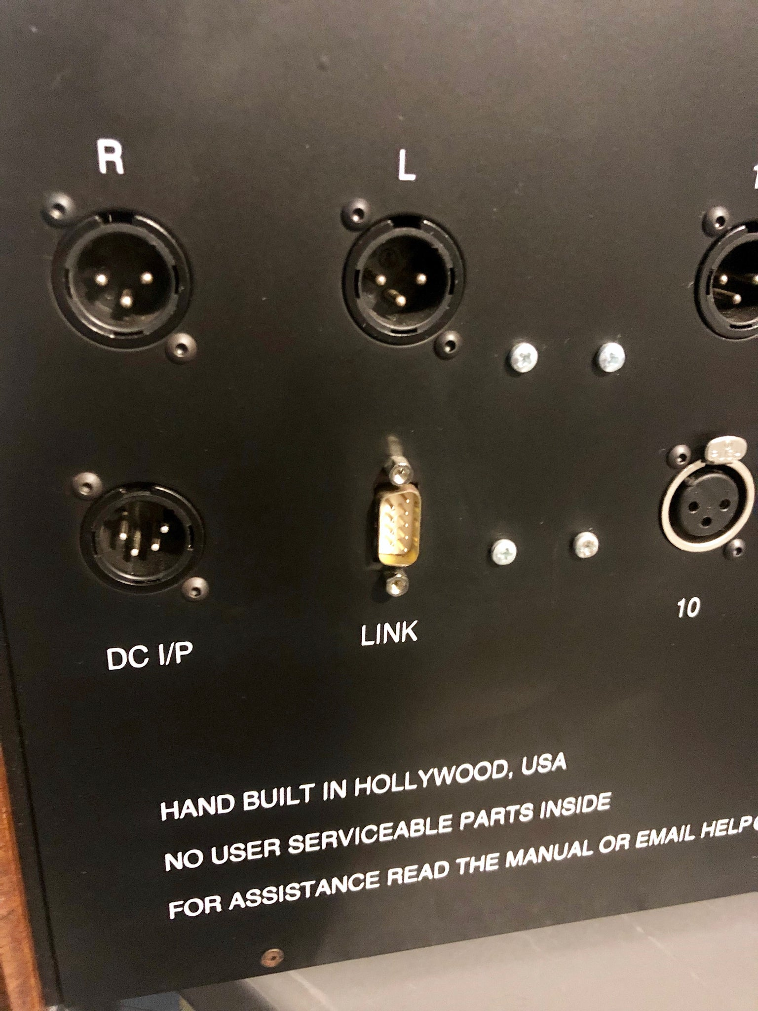 Aurora Audio Sidecar Rear XLR connections