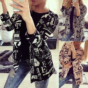 Cotton  Basic  Autumn Letters Jackets - yoyosfashion