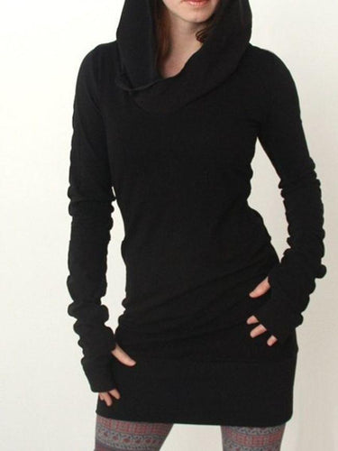 Plain Casual Stylish Hooded Hoodies - yoyosfashion