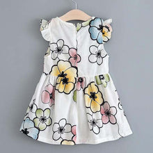 Load image into Gallery viewer, Fly Sleeve Flower Dress - yoyosfashion
