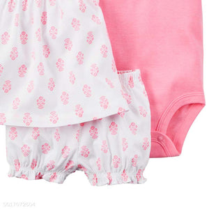 Girls Fly Sleeve Three Pieces Set - yoyosfashion