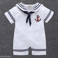 Load image into Gallery viewer, Cute Sailor Style Romper - yoyosfashion