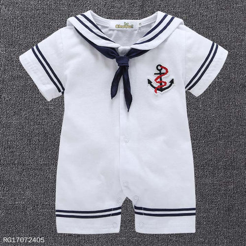 Cute Sailor Style Romper - yoyosfashion