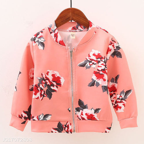 Flower Prints Baseball Jacket - yoyosfashion