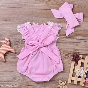 Lovely Lace Romper With Headband - yoyosfashion