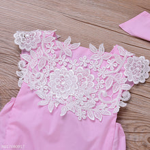 Load image into Gallery viewer, Lovely Lace Romper With Headband - yoyosfashion