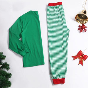 Contrast Stripes Cotton Family Pajamas - yoyosfashion