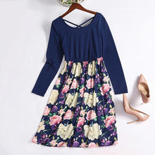 Load image into Gallery viewer, Mom Girl Big Flowers Prints Dress - yoyosfashion