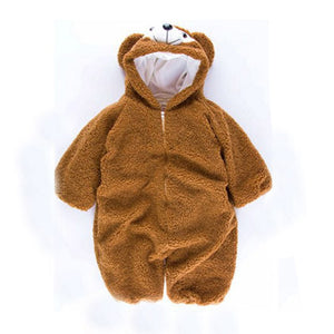 Cartoon Bear Plush Romper - yoyosfashion