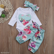 Load image into Gallery viewer, Flower Prints Heart Pattern Bowknot Decorated Set - yoyosfashion