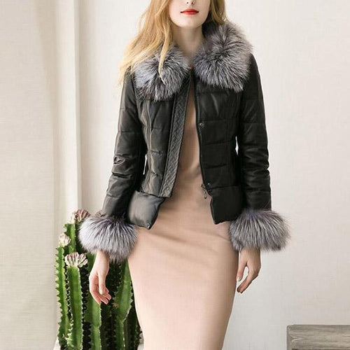 Winter Down Cotton Parka Fur Collar Zipper Coat Jacket Outwear - yoyosfashion