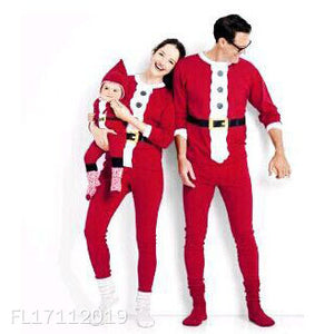 Christmas Pattern Color Block Family Outfits - yoyosfashion