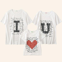 Load image into Gallery viewer, Heart Letters Pattern Round Neck Family Outfits - yoyosfashion